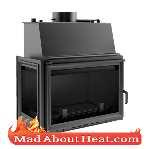 KOLT 27kW Back Boiler stove water heater fireplace insert left hand sided corner madaboutheat