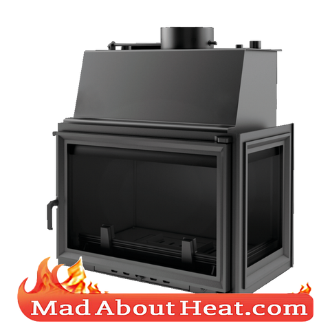 KOLT 27kW Back Boiler stove water heater fireplace insert right hand sided corner madaboutheat