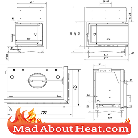 back boiler stove fire place insert for sale in UK delivery to France Spain Wales England