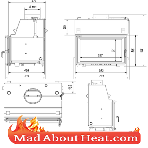 Fire place replacement insert back boiler for central heating delivery UK FRANCE