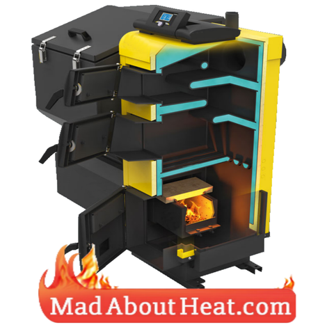 PBI 26kW wood pellet boiler biomass slack coal burner madaboutheat