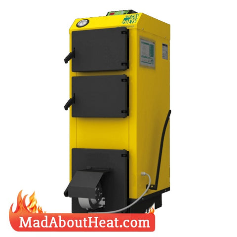 WBi 20kW Wood Coal Slack Peat Burner Fan Assisted Central Heating Boiler