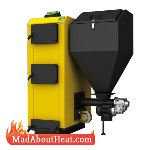 PBI 36 kW Automatic Biomass Pellet Boilers With Feeder Delivery to home