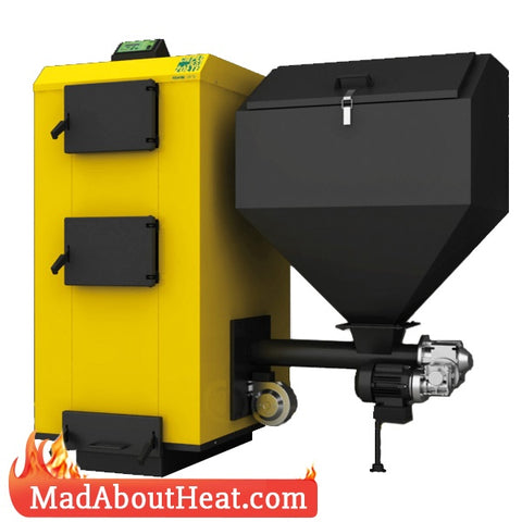 PBI 52kW Auto Feeder Biomass & Coal Boilers With Hopper burn logs too