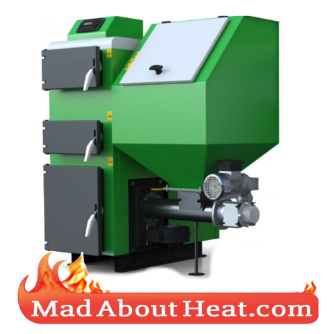 CTBi 75kW Multi Fuel Wood Pellet Biomass Central Heating Boiler.