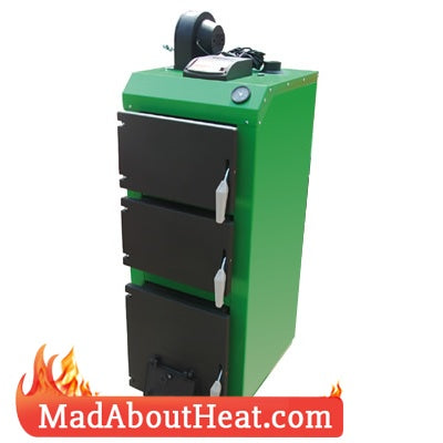 TWBi 21kW Computer Controlled Fan Assisted Wood Coal Central Heating Boiler