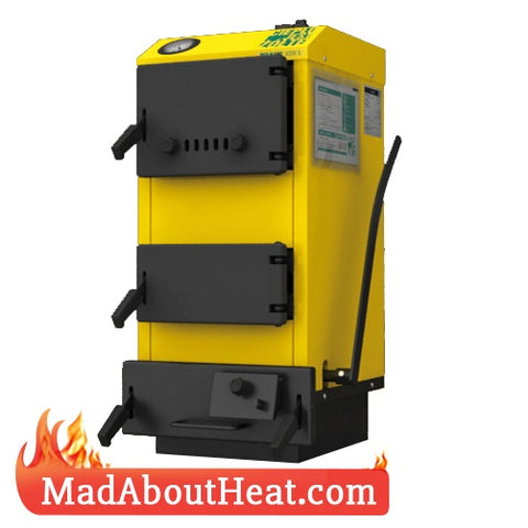 WB 5kW Hot Water Central Heating Boiler Burns Logs Wood Waste Shrubs