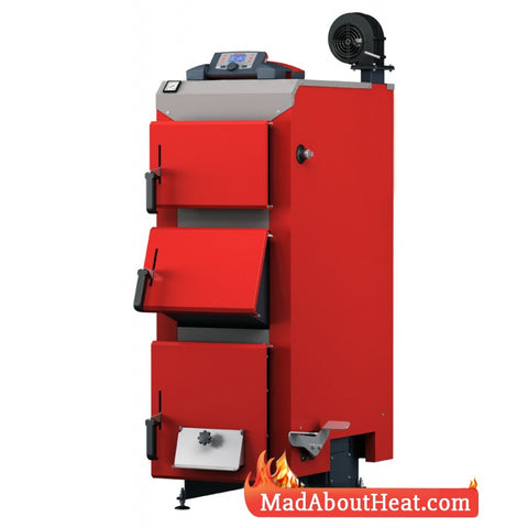 DWBi semi automatic boilers solid fuel logs wood waste shavings chipboard madaboutheat