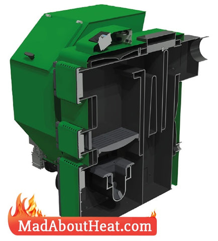 Wood Pellet Multi fuel central heating boilers burn Slack Pea coal madaboutheat