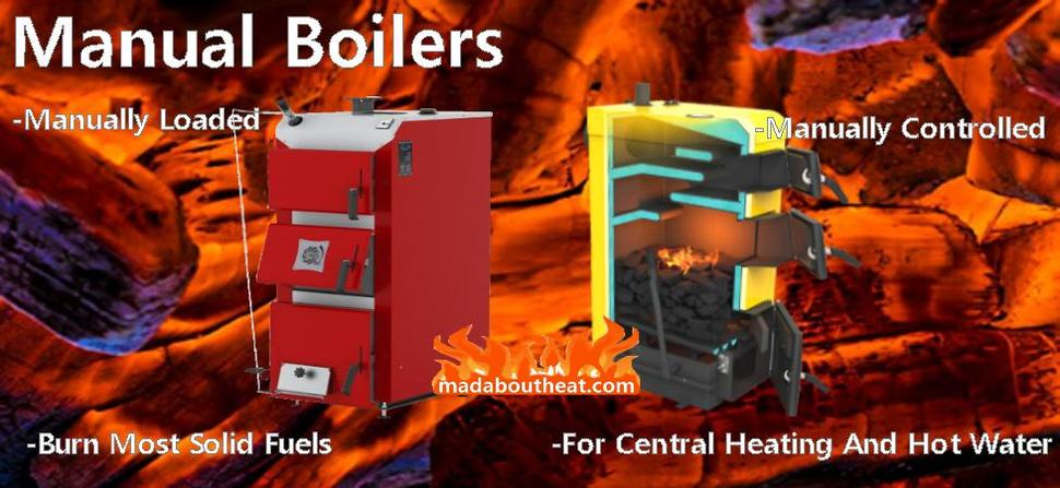 Manual multi fuel wood coal boilers log rubbish burners central heating
