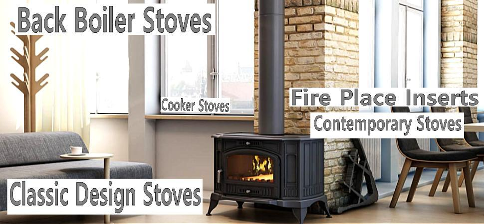 Classic design modern free standing stoves log wood burning back boiler heaters