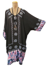 Load image into Gallery viewer, Indian Hand Block Print Tie Dye Viscose Tunic Size 18 - 32 LS1