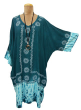 Load image into Gallery viewer, Indian Hand Block Print Tie Dye Viscose Tunic Size 18 - 32 LS2