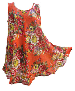 Hippie Lagenlook Tunic Top Dress Boho Beach Kaftan Size 18 20 22 24 26 28 30