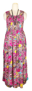 Viscose Maxi Dress UK One Size 14-24 E68