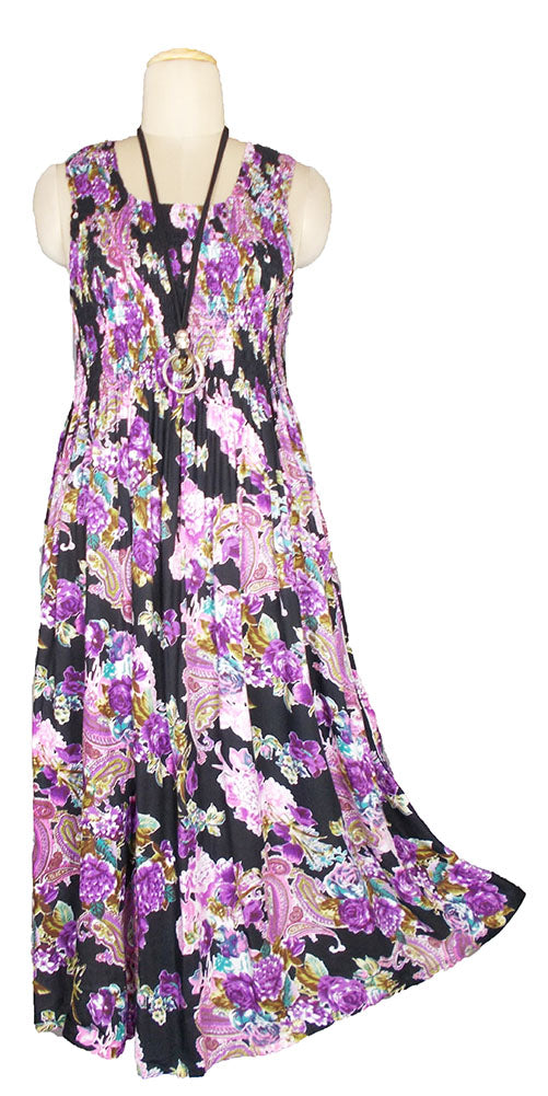 Viscose Maxi Dress UK One Size 14-24 E69
