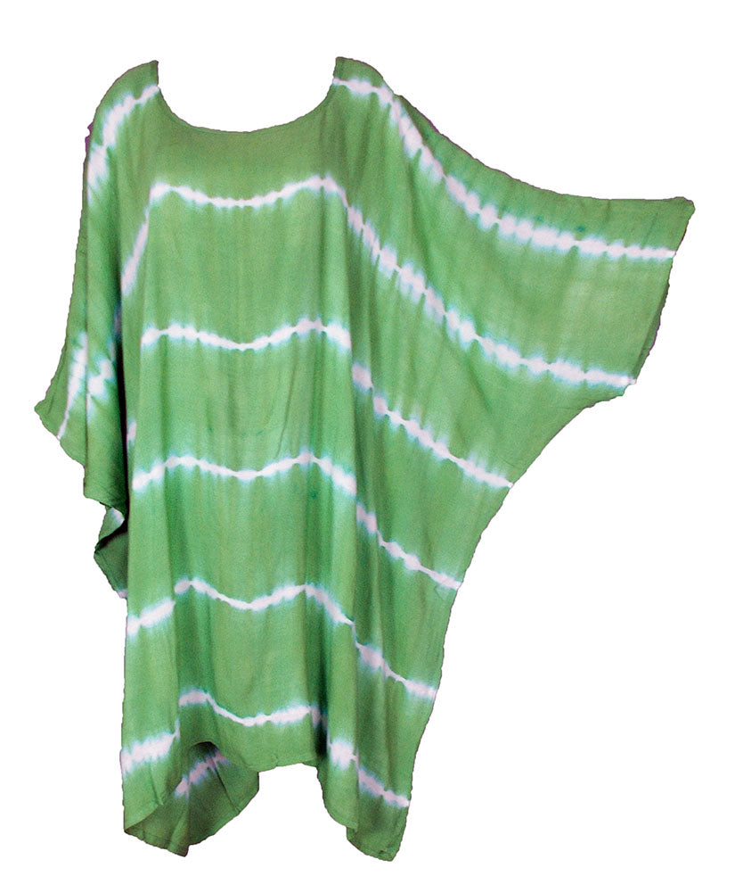 Green TIE DYE Short Sleeve Kaftan 24 to 34