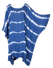 Load image into Gallery viewer, Blue TIE DYE Short Sleeve Kaftan 24 to 34