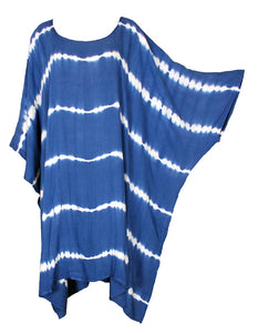 Blue TIE DYE Short Sleeve Kaftan 24 to 34