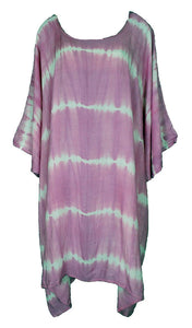 Baby Pink TIE DYE Short Sleeve Kaftan 24 to 34