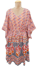 "Load image into Gallery viewer, 38"" Cotton Belted Kaftan One Size 12 to 24 D23"