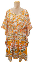 "Load image into Gallery viewer, 38"" Cotton Belted Kaftan One Size 12 to 24 D24"