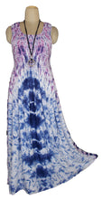 Load image into Gallery viewer, Viscose Tie Dye Maxi Dress UK  One Size 14-24 E11