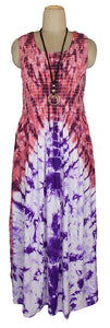 Viscose Tie Dye Maxi Dress UK  One Size 14-24 E12