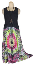Load image into Gallery viewer, Viscose Tie Dye Maxi Dress UK  One Size 14-24 E13