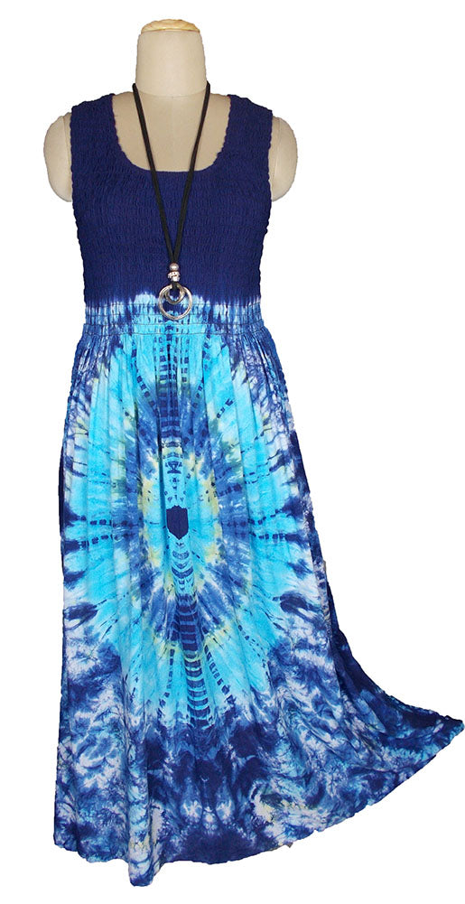 Viscose Tie Dye Maxi Dress UK  One Size 14-24 E1