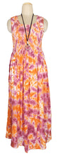 Load image into Gallery viewer, Viscose Tie Dye Maxi Dress UK  One Size 14-24 E4