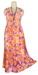 Viscose Tie Dye Maxi Dress UK  One Size 14-24 E4