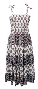Cotton Patchwork Bandeau Flared Dress Size 14 - 28 EP5