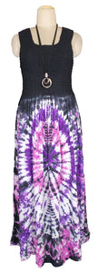 Viscose Tie Dye Maxi Dress UK  One Size 14-24 E5