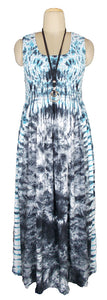 Viscose Tie Dye Maxi Dress UK  One Size 14-24 E7