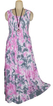 Load image into Gallery viewer, Viscose Tie Dye Maxi Dress UK  One Size 14-24 E9