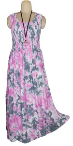 Viscose Tie Dye Maxi Dress UK  One Size 14-24 E9