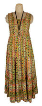 Load image into Gallery viewer, Viscose Tiered Maxi Dress UK  One Size 14-24 E18