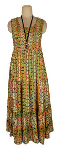 Viscose Tiered Maxi Dress UK  One Size 14-24 E18