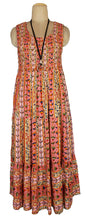 Load image into Gallery viewer, Viscose Tiered Maxi Dress UK  One Size 14-24 E24