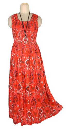 Viscose Maxi Dress UK One Size 14-24 E25
