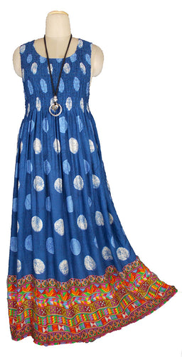 Viscose Maxi Dress UK One Size 18-28 E34