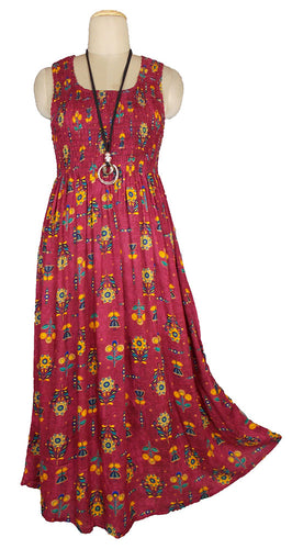 Viscose Maxi Dress UK One Size 14-24 E36