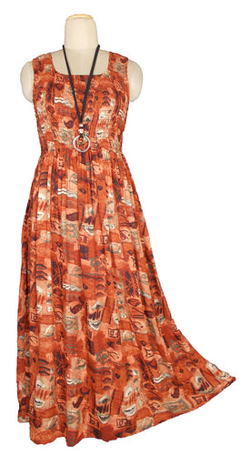 Viscose Maxi Dress UK One Size 14-24 E41