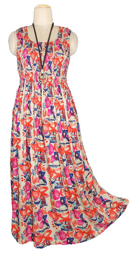 Viscose Maxi Dress UK One Size 14-24 E43