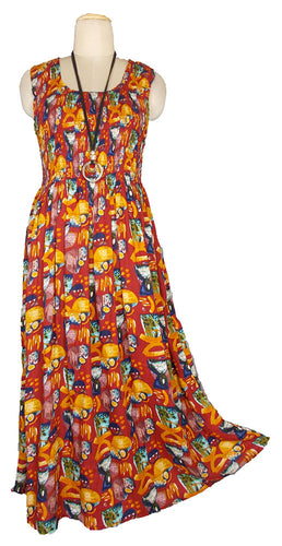 Viscose Maxi Dress UK One Size 14-24 E46