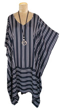 Load image into Gallery viewer, Loose Border Style Striped Kaftan One-Size 16-26