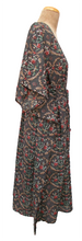 "Load image into Gallery viewer, Long 47"" Cotton Belted Kaftan One Size 12 to 24 DM10 (Coffee)"