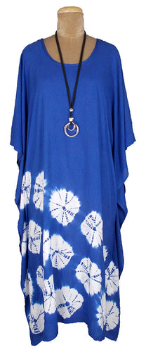 Cotton Kaftan Cover Up Beach Hippie Dress Boho Size 16 18 20 22 24 26 28