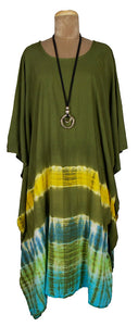 TIE DYE Kaftan Cover Up  Size 16 -26 K1